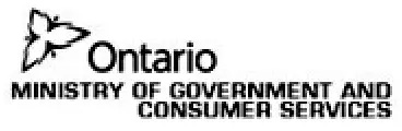 Ontario Minstry of Government and Consumer Services